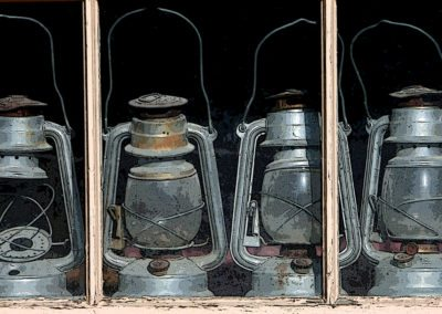 Old Lanterns Reed Point Posterized